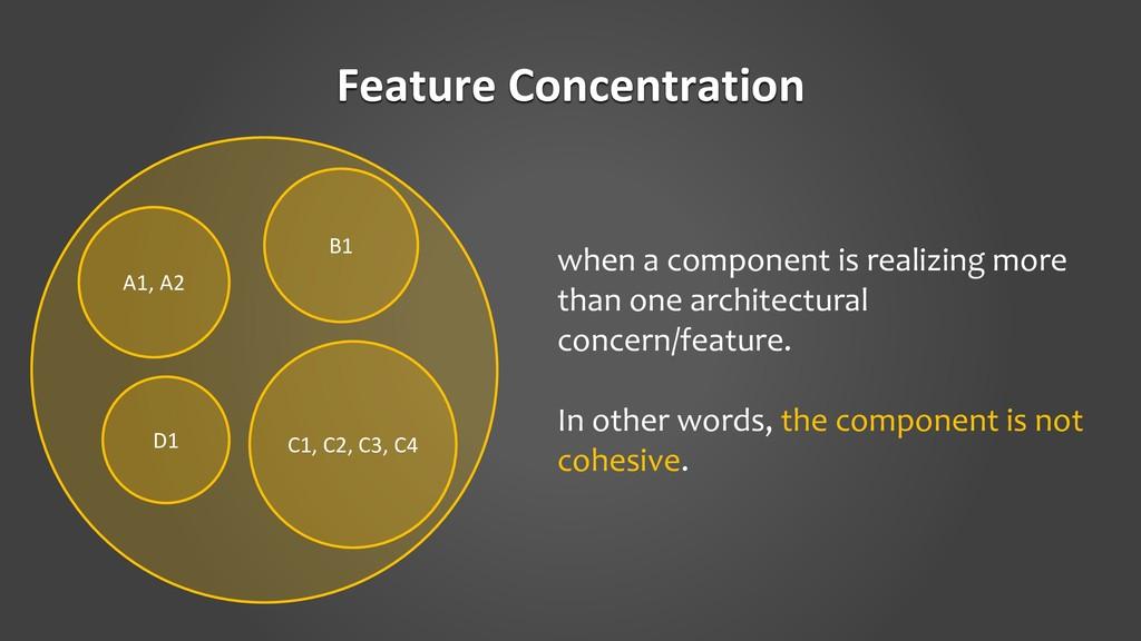 Feature Concentration A1, A2 D1 C1, C2, C3, C4 ...