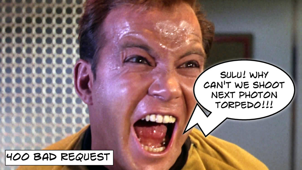 400 BAD REQUEST SULU! WHY CAN'T WE SHOOT NExT P...