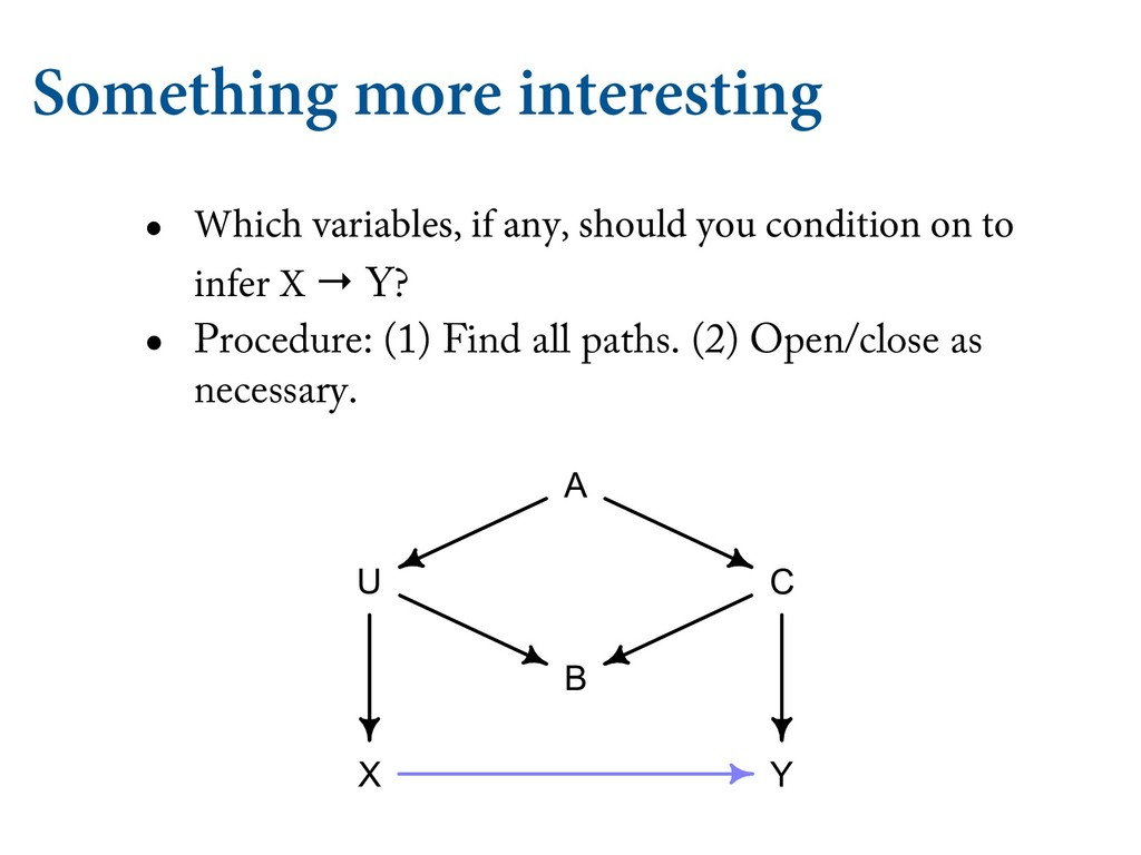 Something more interesting • Which variables, i...
