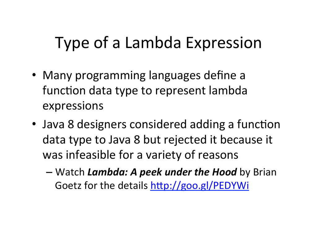 Type	