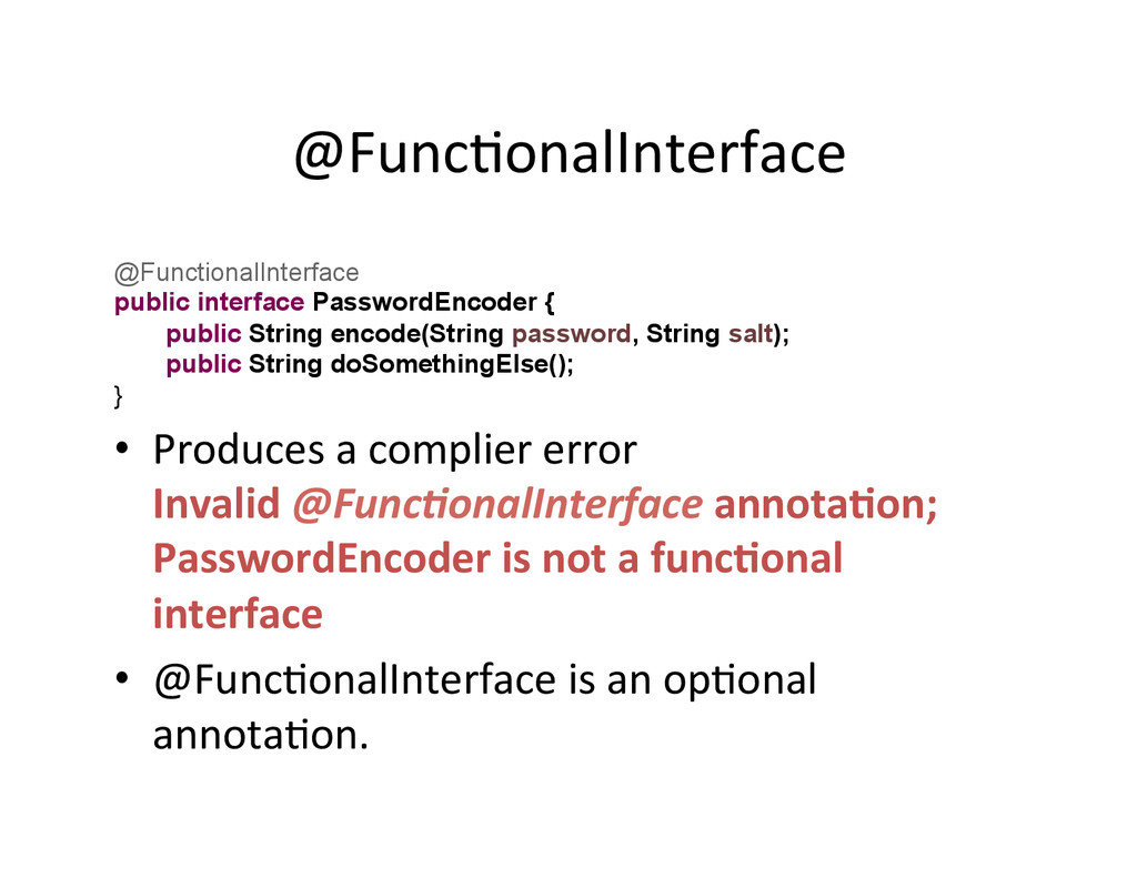 @FuncAonalInterface	