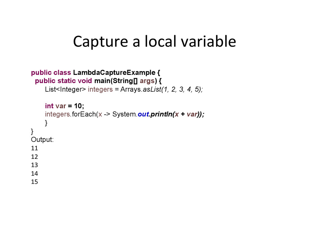 Capture	