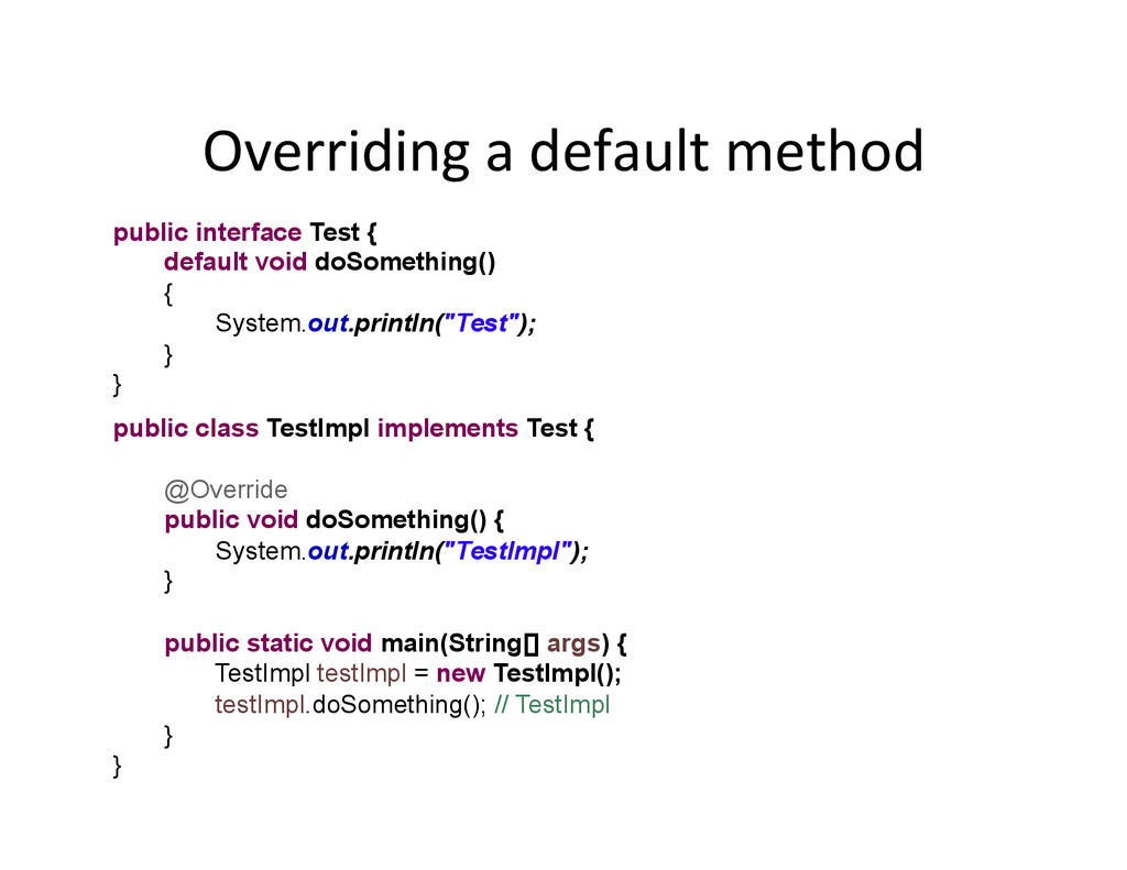 Overriding	