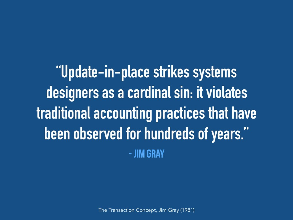 """""""Update-in-place strikes systems designers as a..."""