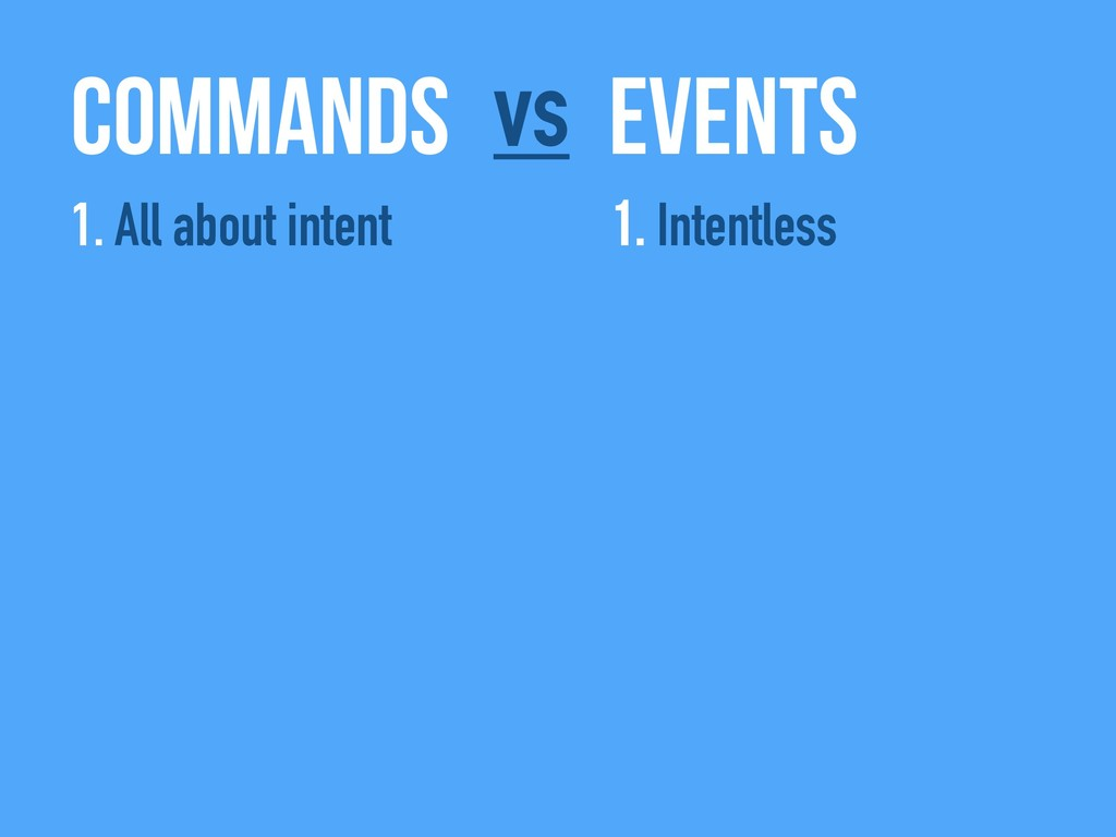 Commands Events vs 1. All about intent 1. Inten...