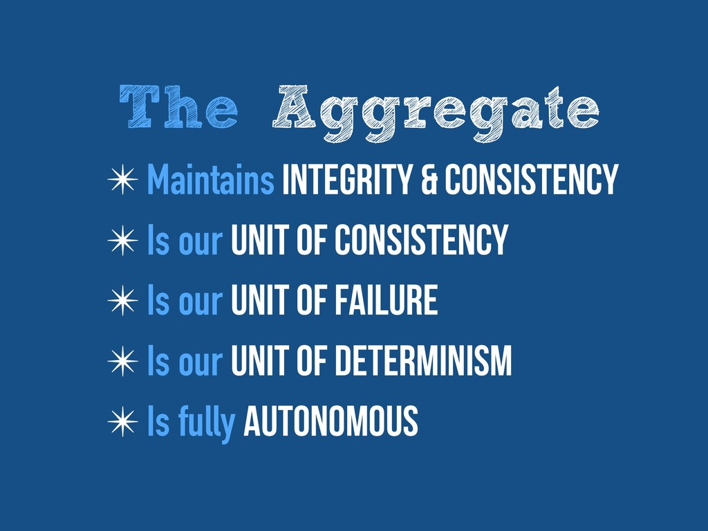✴ Maintains Integrity & consistency ✴ Is our Un...