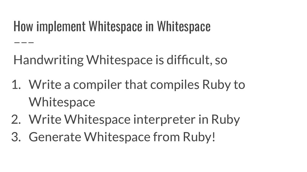 How implement Whitespace in Whitespace Handwrit...