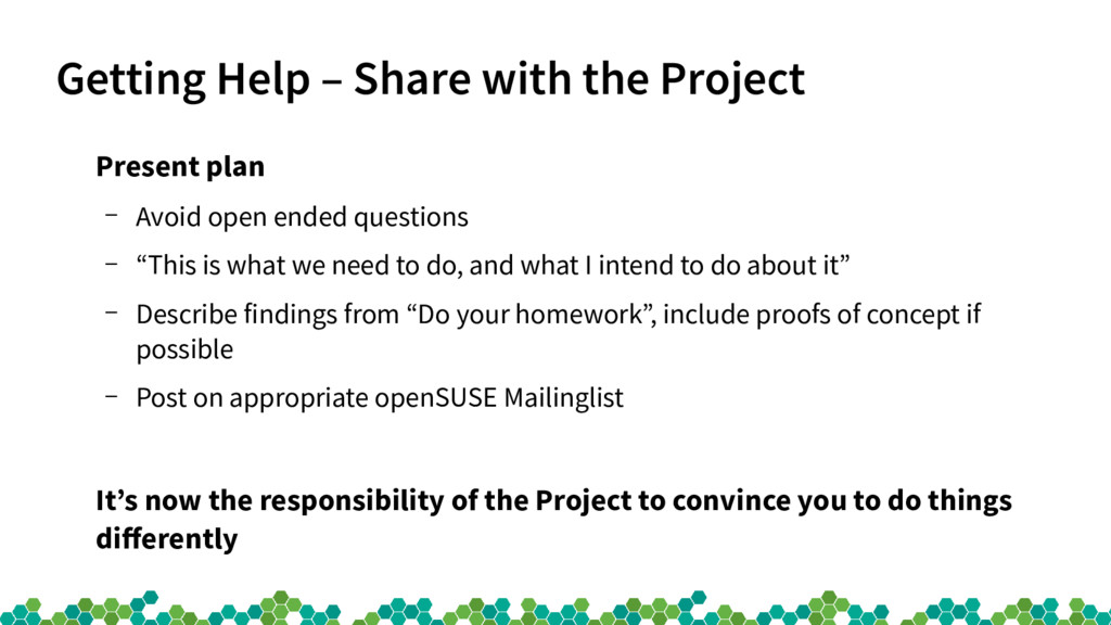 Getting Help – Share with the Project Present p...