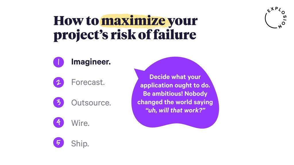 How to maximize your project's risk of failure ...