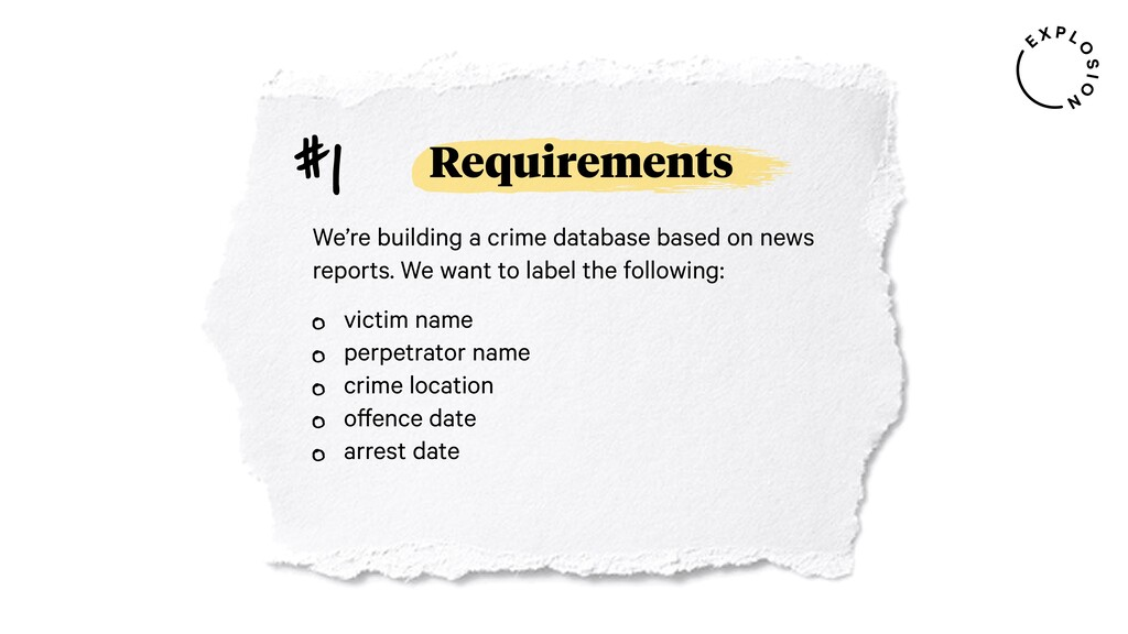 Requirements We're building a crime database ba...