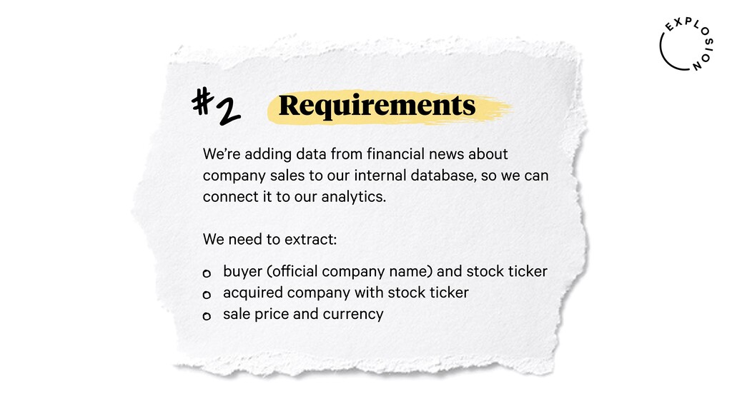 Requirements We're adding data from financial n...