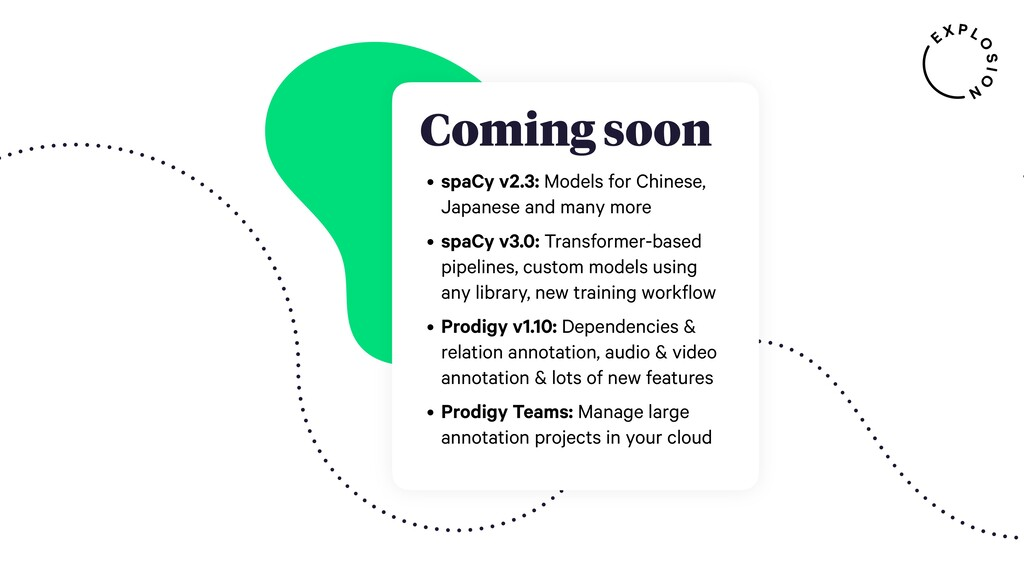 Coming soon • spaCy v2.3: Models for Chinese, J...