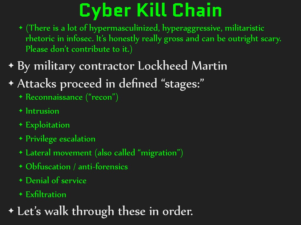 Cyber Kill Chain ✦ (There is a lot of hypermasc...