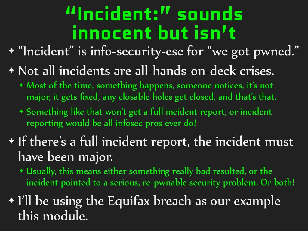 """Incident:"" sounds innocent but isn't ✦ ""Incide..."