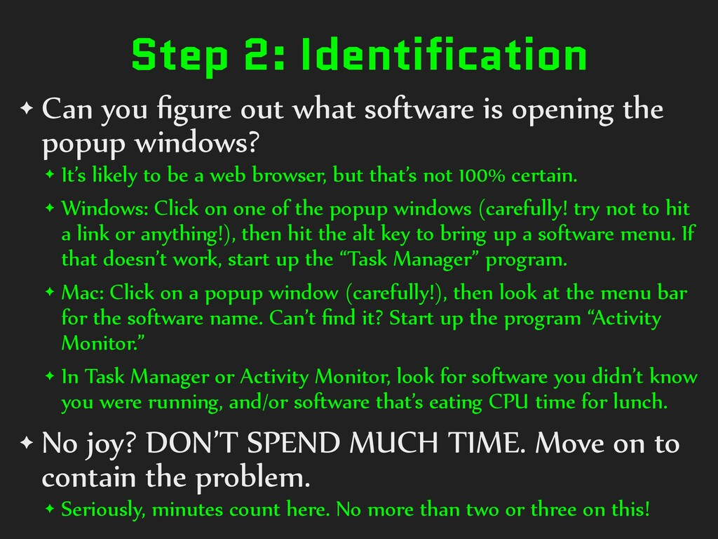 Step 2: Identification ✦ Can you figure out what...