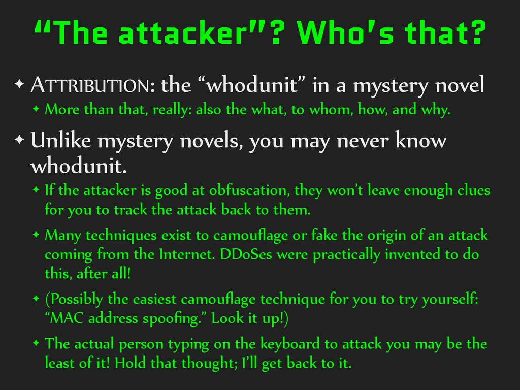 """The attacker""? Who's that? ✦ ATTRIBUTION: the ..."