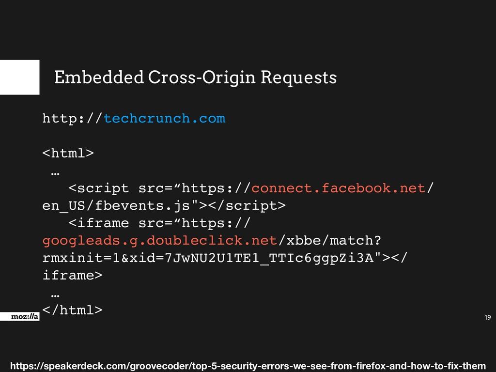 Embedded Cross-Origin Requests 19 http://techcr...