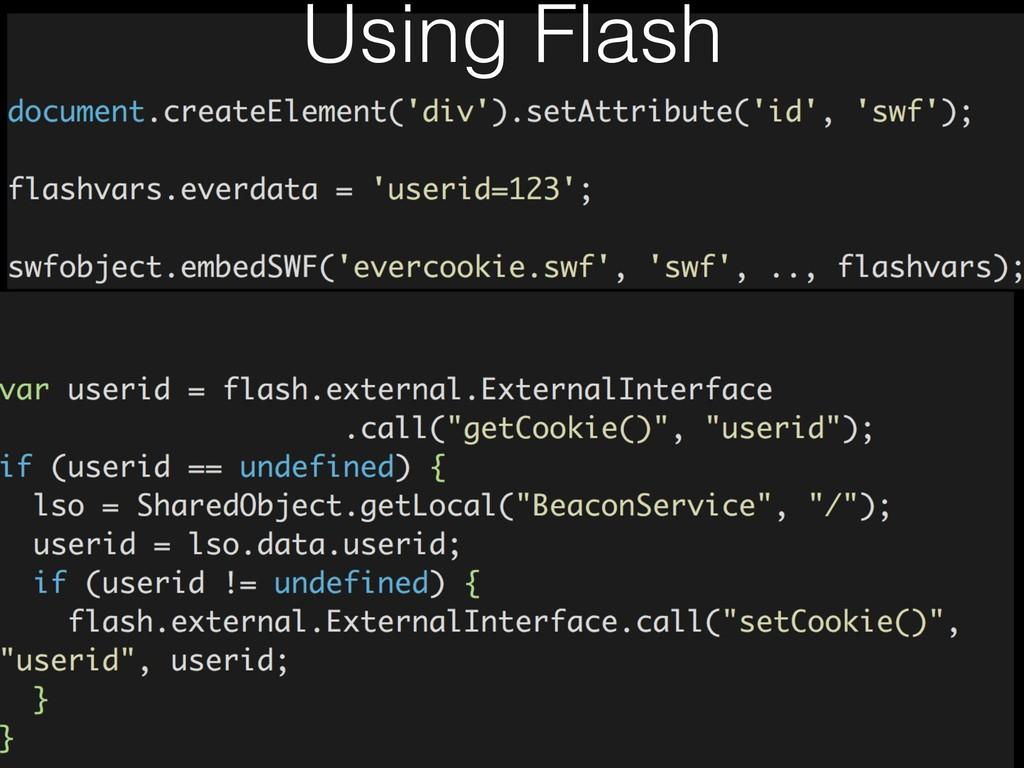 Using Flash