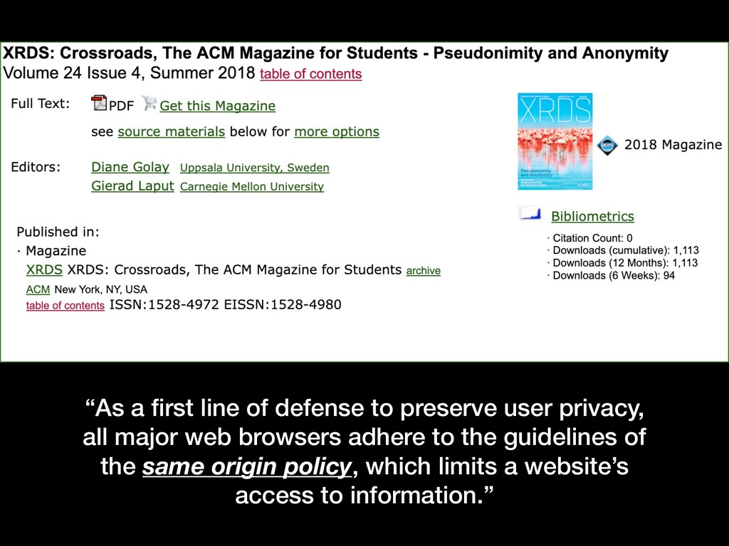"""""""As a first line of defense to preserve user pri..."""