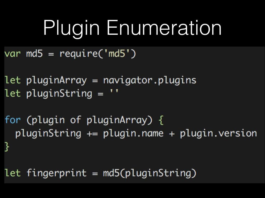 Plugin Enumeration