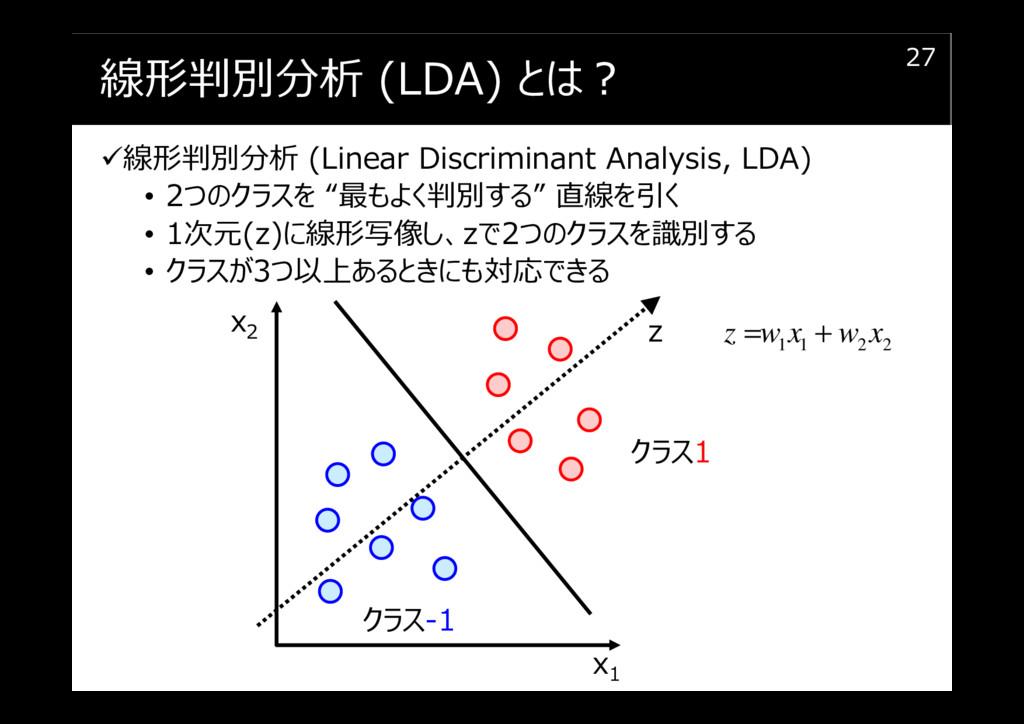 線形判別分析 (LDA) とは︖ 線形判別分析 (Linear Discriminant An...