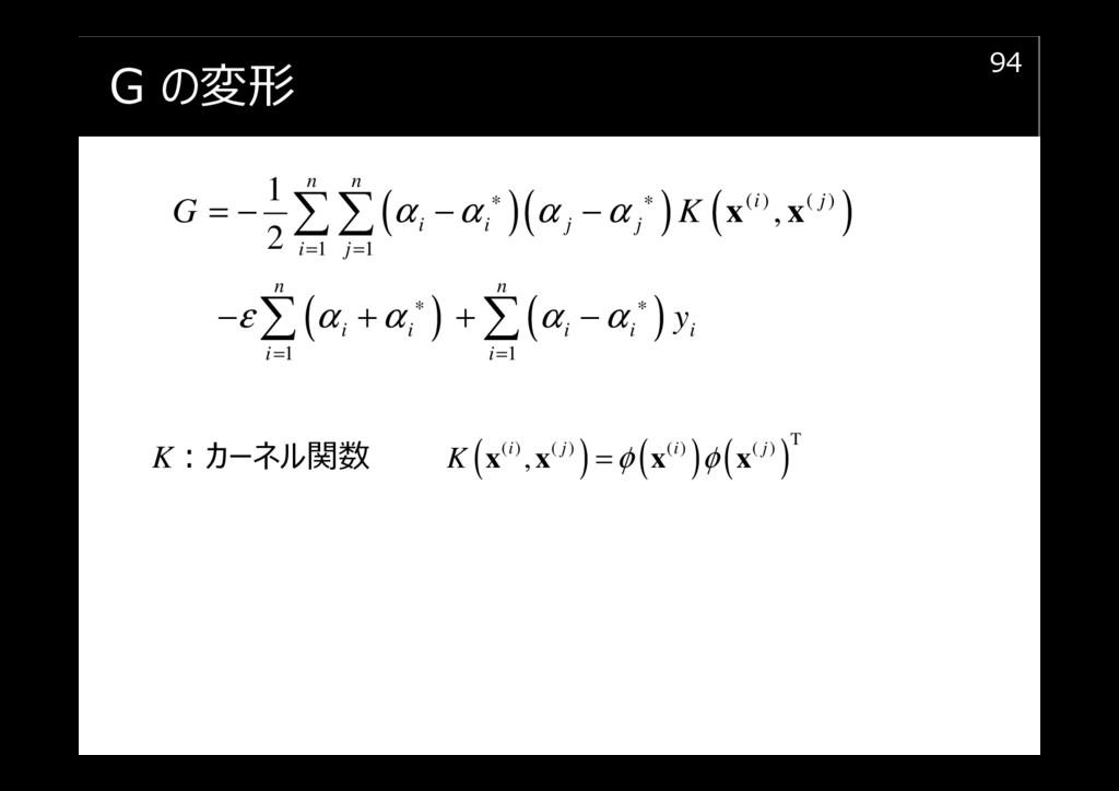G の変形 94 ( )( ) ( ) ( ) ( ) ( ) ( ) 1 1 1 1 1 ,...