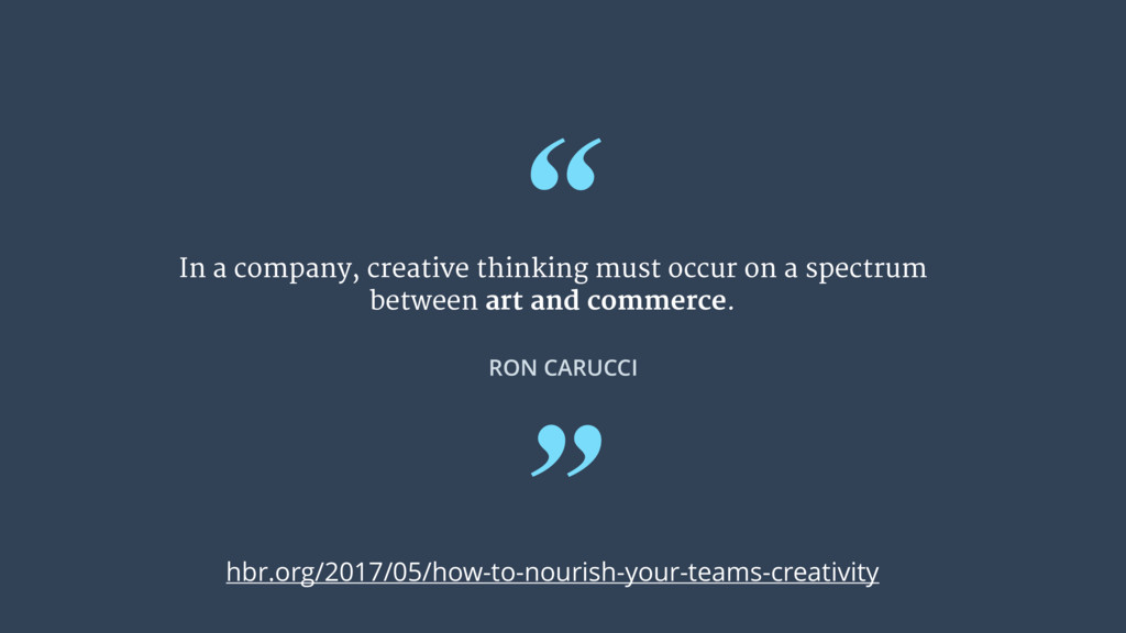 """ In a company, creative thinking must occur on..."