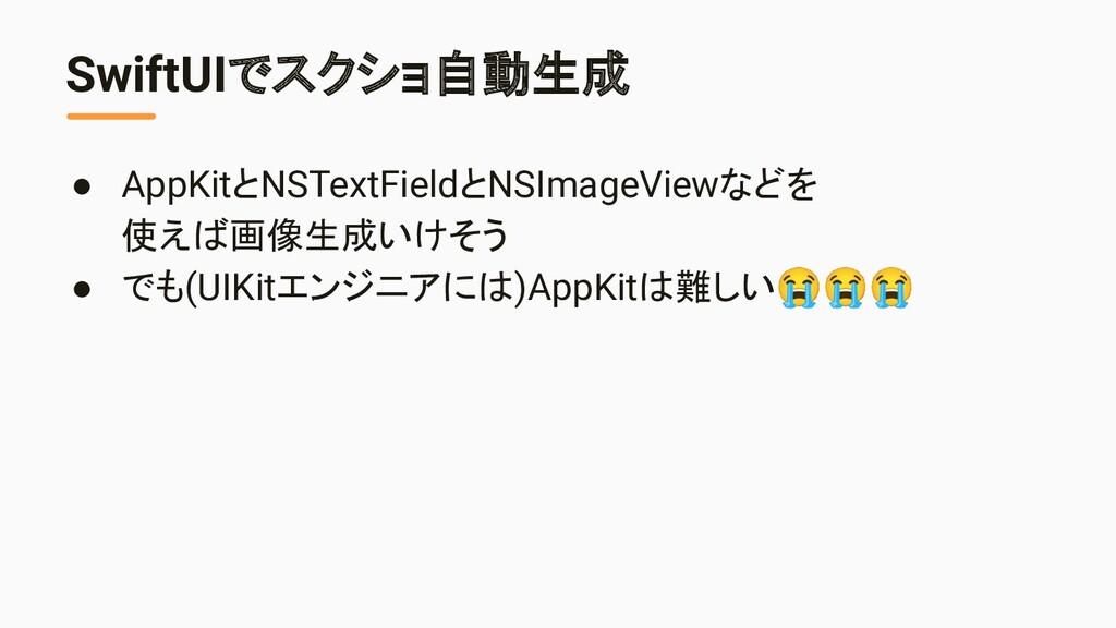 SwiftUIでスクショ自動生成 ● AppKitとNSTextFieldとNSImageVi...