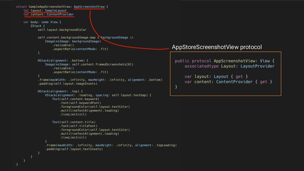 AppStoreScreenshotView protocol