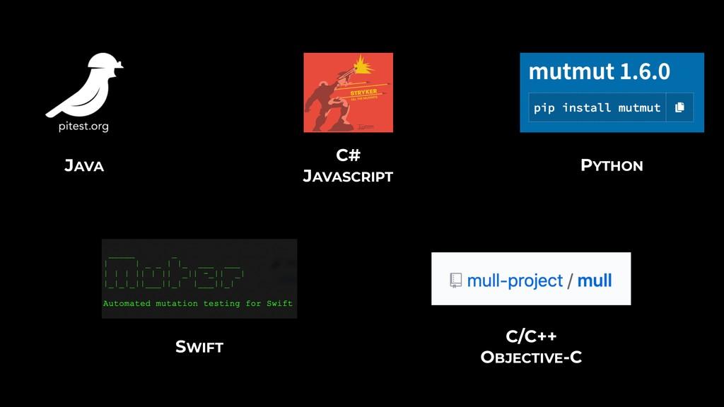C# JAVASCRIPT JAVA PYTHON SWIFT C/C++ OBJECTIVE...