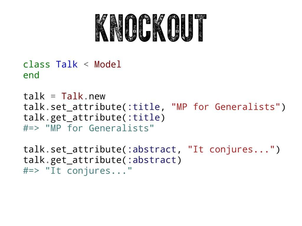 class Talk < Model end talk = Talk.new talk.set...