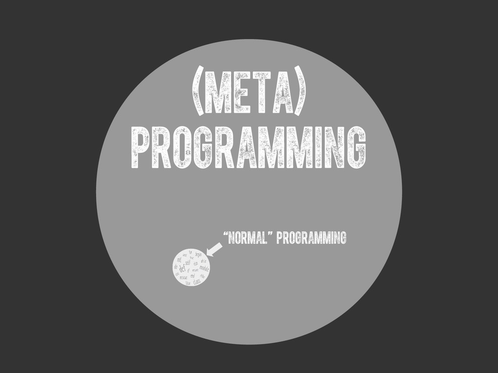"(meta) PROGRAMMING ""normal"" programming"