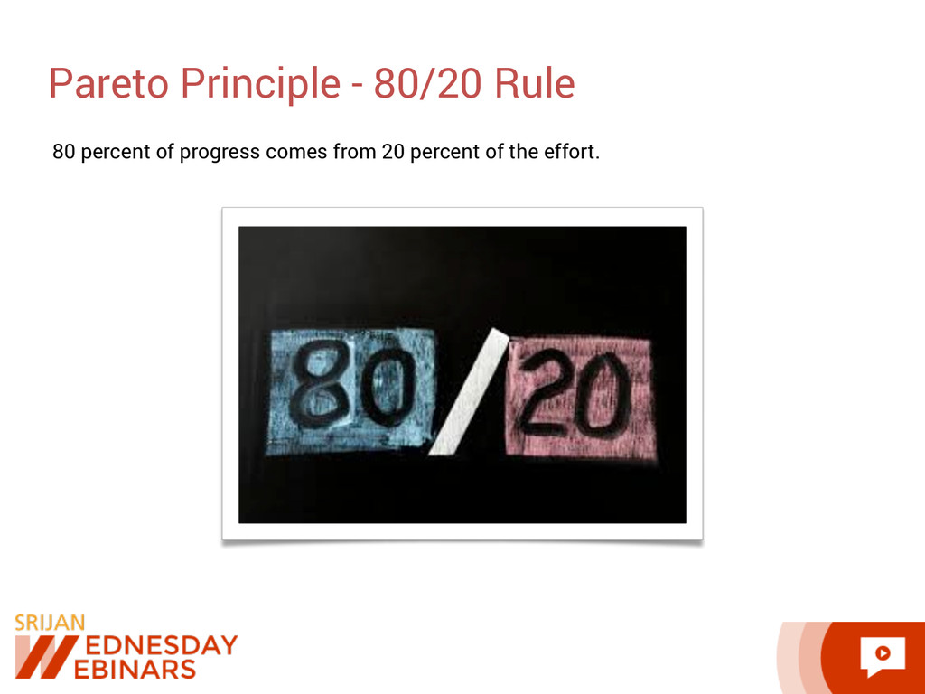 Pareto Principle - 80/20 Rule 80 percent of pro...