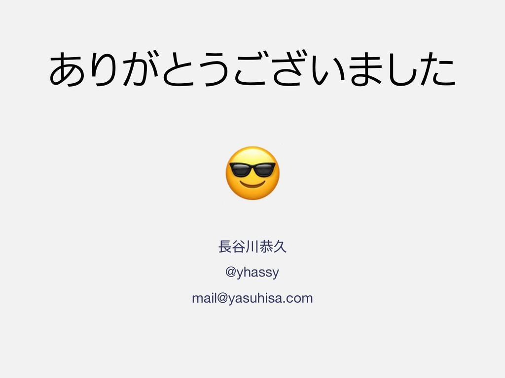 ୩ګٱ @yhassy mail@yasuhisa.com !