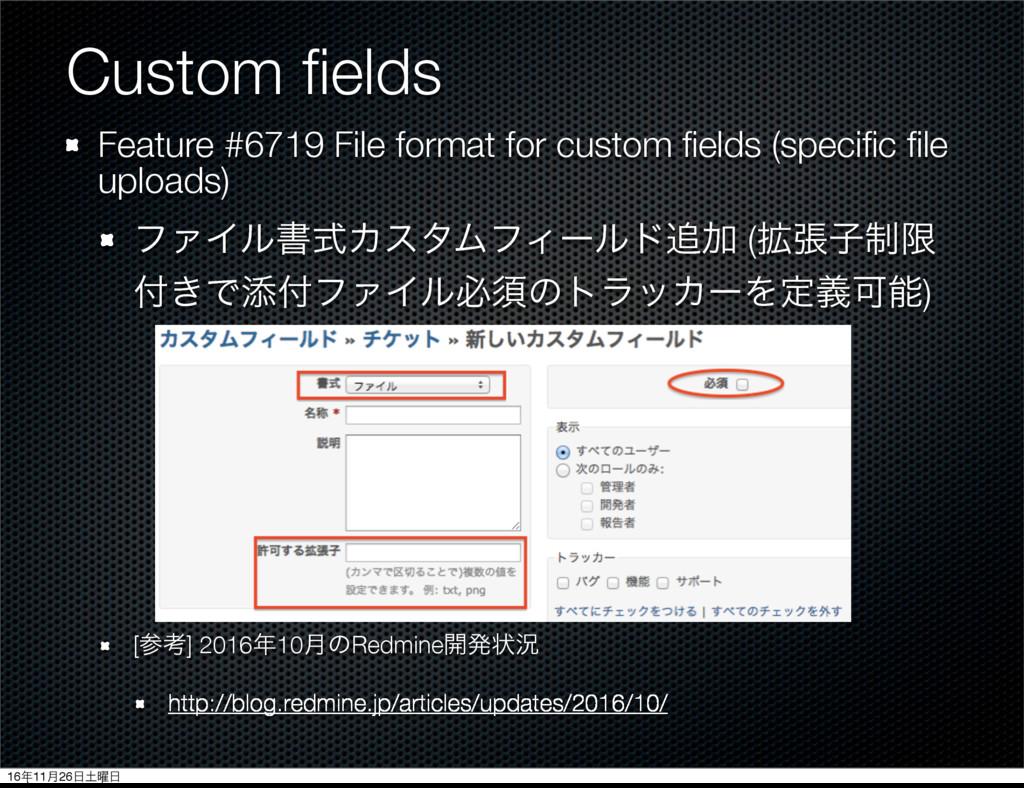 Custom fields Feature #6719 File format for cust...