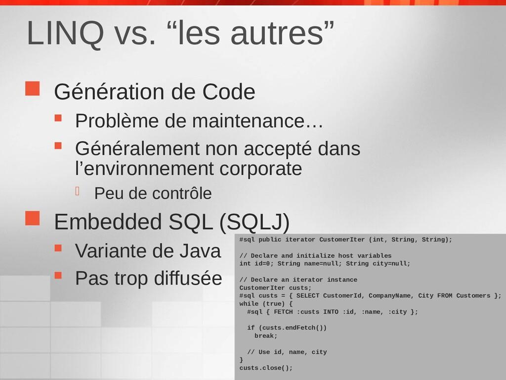  Génération de Code  Problème de maintenance…...