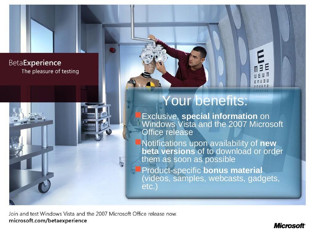 Exclusive, special information on Windows Vist...