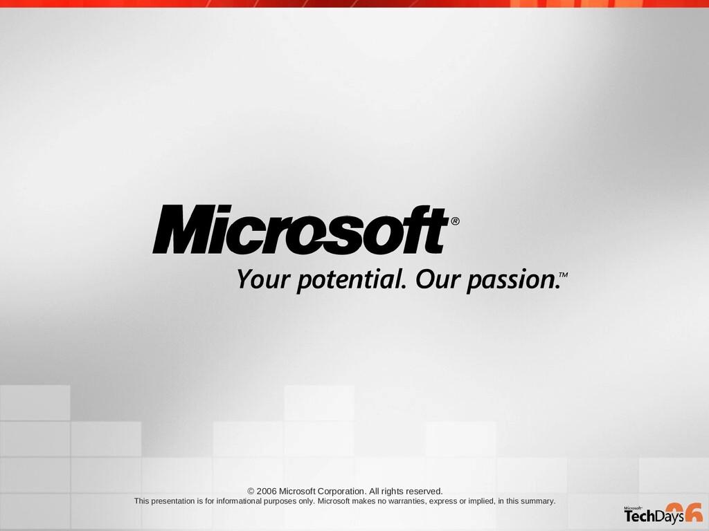 © 2006 Microsoft Corporation. All rights reserv...