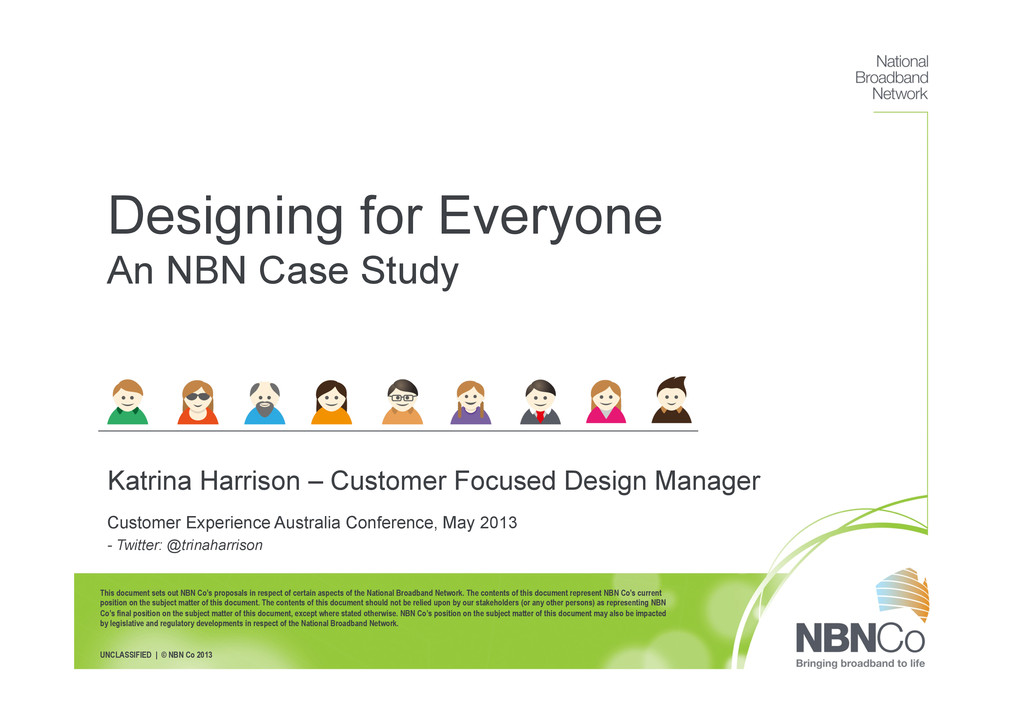 This document sets out NBN Co's proposals in re...