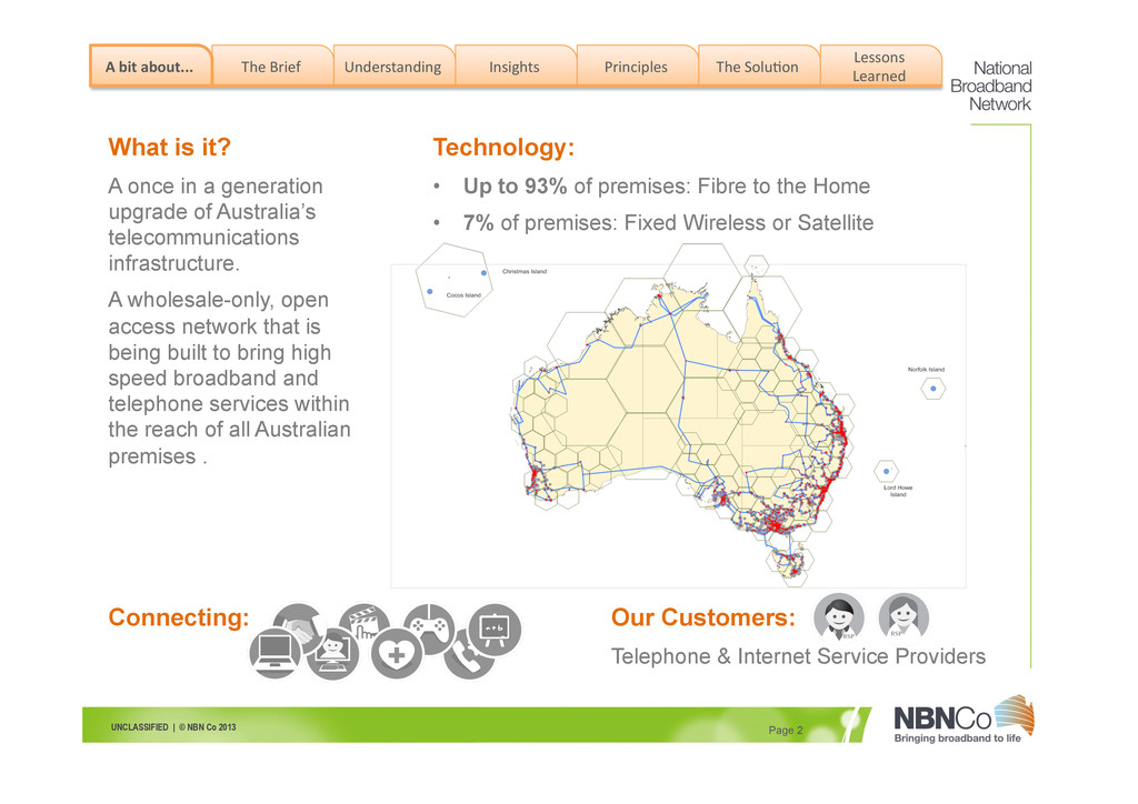 UNCLASSIFIED | © NBN Co 2013 Page 2 The Brie...