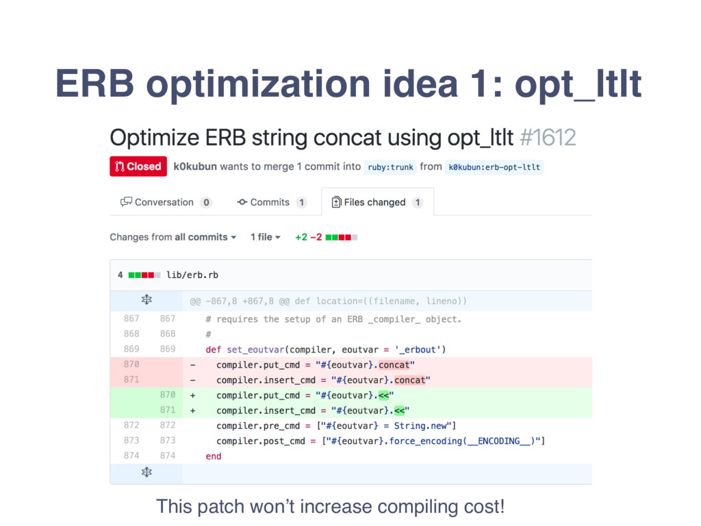 ERB optimization idea 1: opt_ltlt This patch wo...