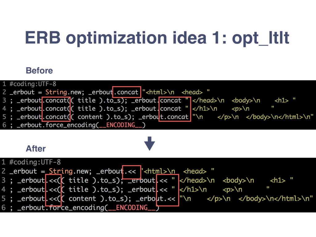 ERB optimization idea 1: opt_ltlt Before After