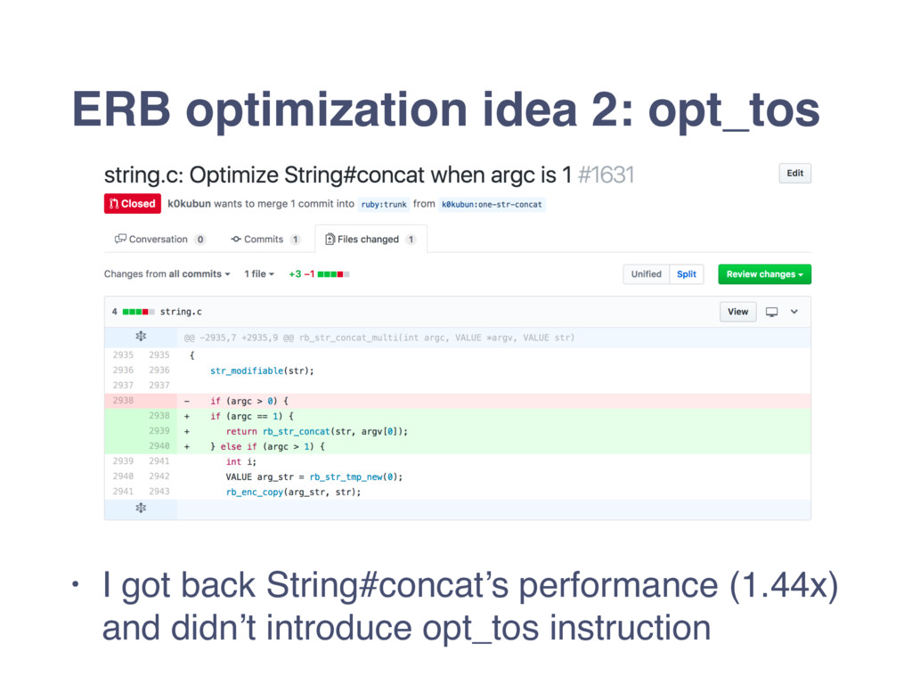 ERB optimization idea 2: opt_tos • I got back S...