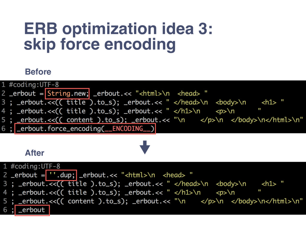 ERB optimization idea 3: skip force encoding Be...
