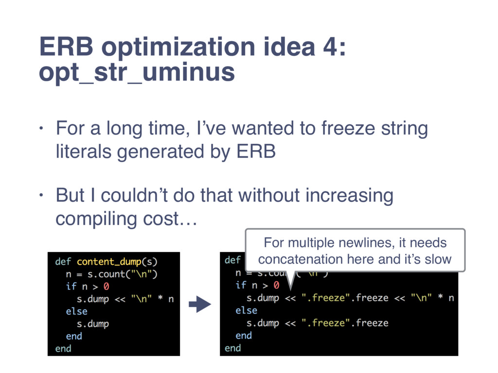 • For a long time, I've wanted to freeze string...