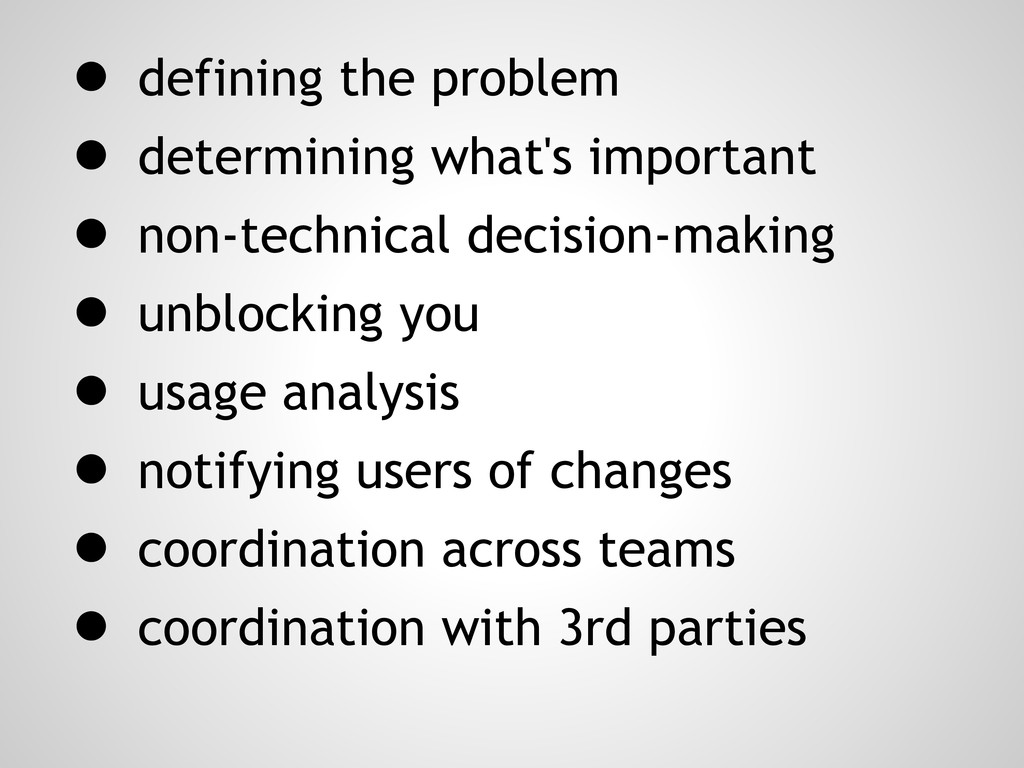 ● defining the problem ● determining what's imp...