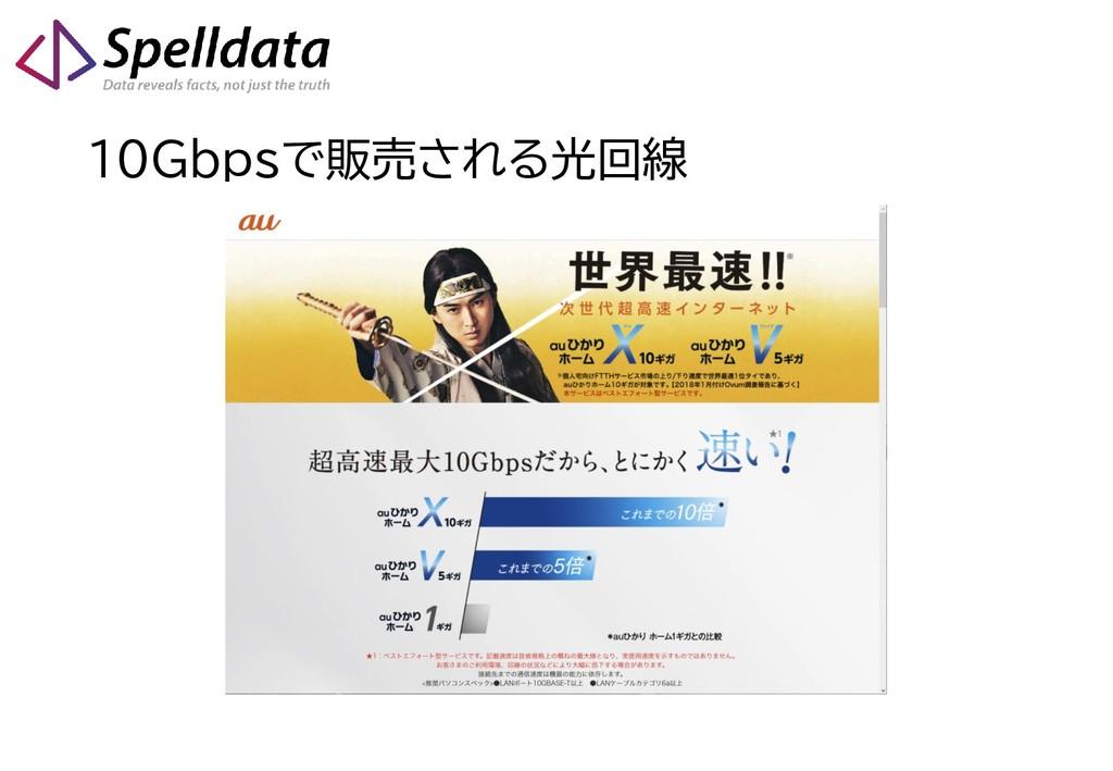 10Gbpsで販売される光回線