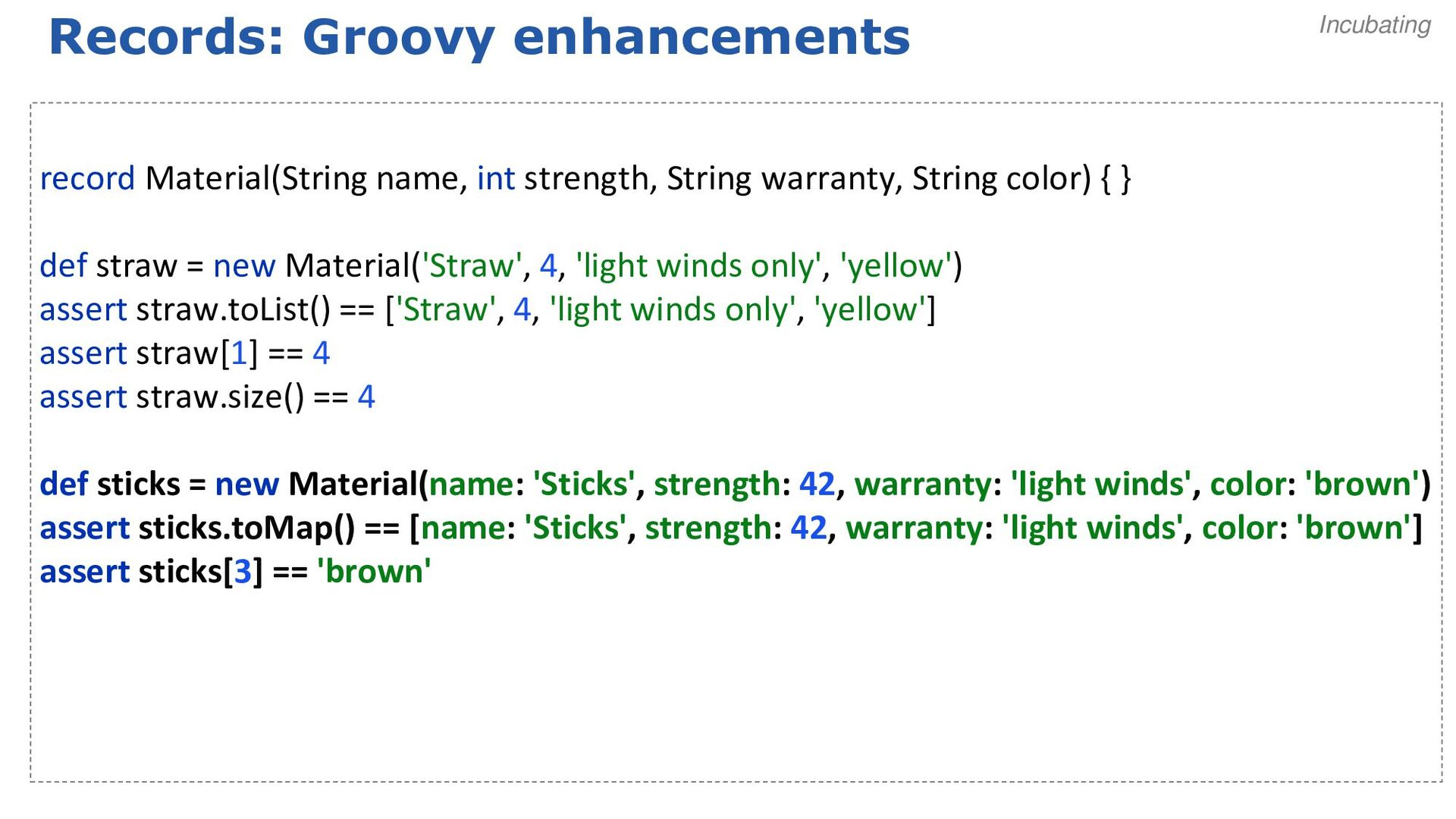 Parrot: Java-style array initialization def pri...