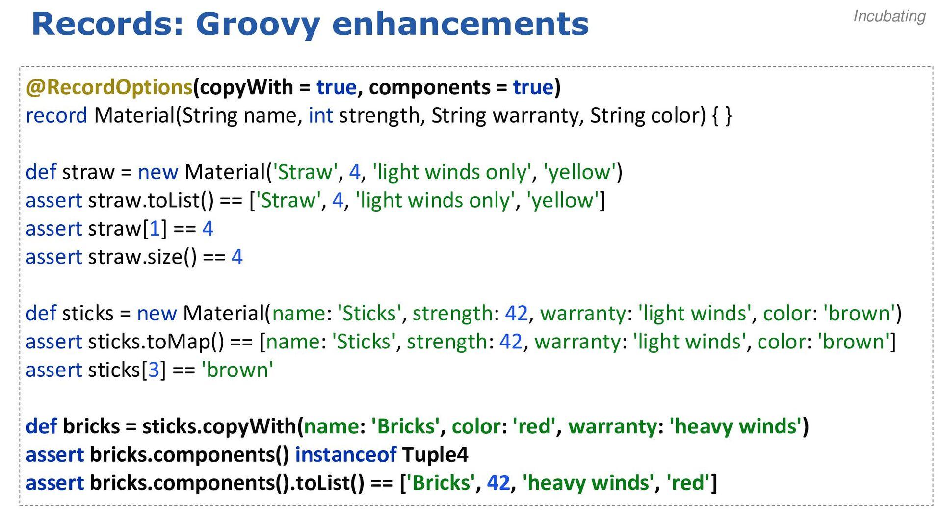 Groovy's static nature Java Dynamic Static Groo...