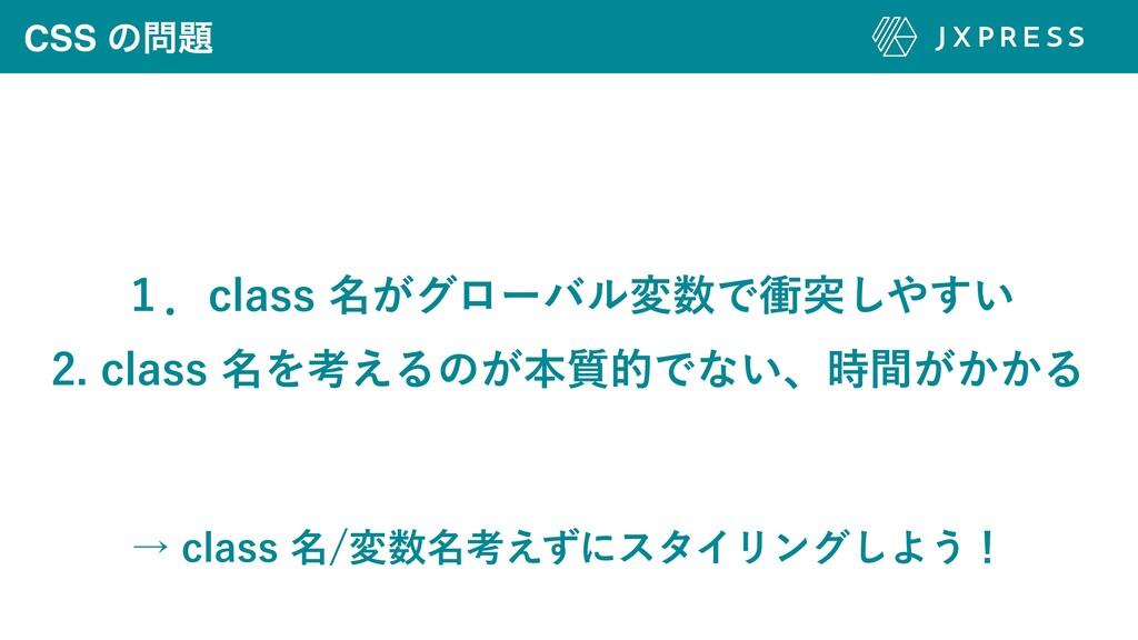 CSS ͷ ̍ɽDMBTT໊͕άϩʔόϧมͰিಥ͍͢͠ DMBTT໊Λߟ͑...